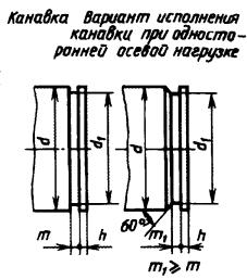 Проточка под стопорные кольца 52 чертеж