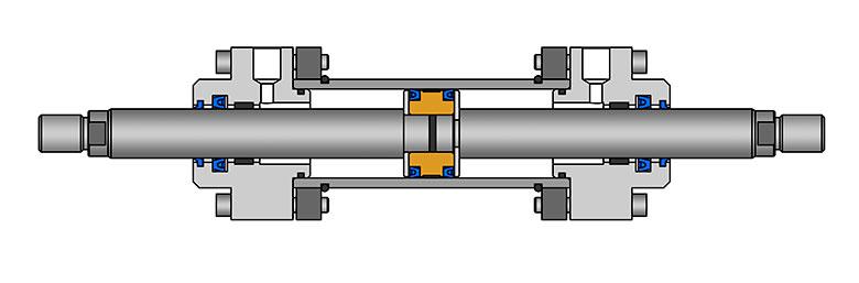 Цилиндр с двухсторонним штоком