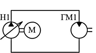 Гиростатическая трансмиссия по замкнутому типу, с объемным регулированием