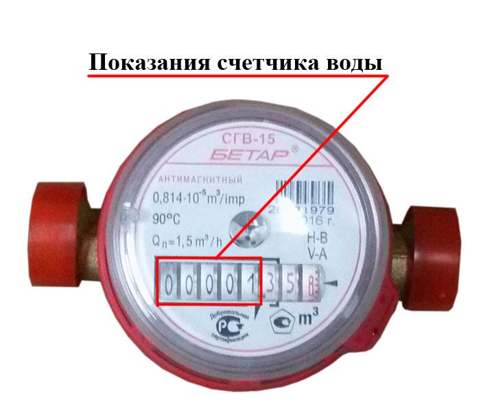 Передача счетчиков горячей воды