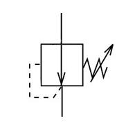 Обозначение редукционного клапана на схеме